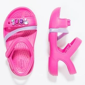 Crocs Pink Jewel Lina Waterproof Strappy Sandals